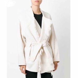 IRO cauley kimono tweed jacket in ivory 36